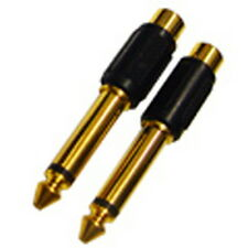 "1/4"" 6.35mm TRS Mono Male to RCA Female Plug Connector 2EA(1Set), SC33"