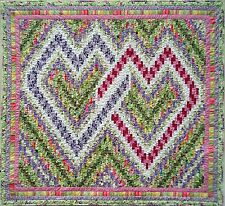 Quilt PATTERN Nancy's Interlocking Bargello Hearts valentine wedding love