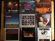 DEEP PURPLE 9 CD LOT - MADE IN JAPAN, KNEBWORTH 85, TOTAL ABANDON LIVE + MORE!