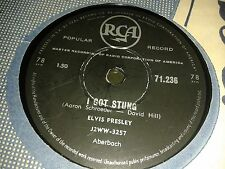 ELVIS PRESLEY :  I GOT STUNG  /  LET ME.  South Africa.78rpm. (1959)