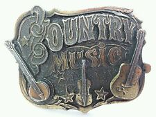 Country Music Brass? Belt Buckle from The American Buckle Co U.S.A. #919