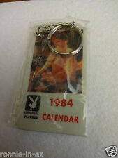 1984 MINI PLAYBOY CLUB CALENDAR KEY CHAIN PLAYMATES SEALED PACKAGE & FREE SHIP