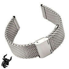 24mm SHARK WIRE MESH BRACELET WATCH BAND Divers Strap for Seiko & Citizen