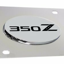Fits. Nissan 350Z Chrome 3D Emblem Front License Plate - Officially Licensed