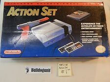 Nintendo NES Game Action Set System Complete Box Cib Mario Bros Duckhunt #1