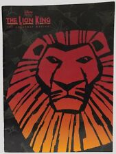 Disney The Lion King - The Broadway Musical Program EX - 2001 MINT CAST INSERT