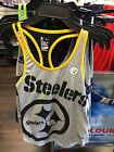 Pittsburgh Steelers Ladies Medium Tri-Blend Performance NFL Football Tank Top