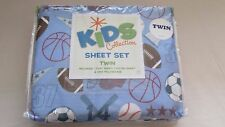 BOYS Kids Collection SPORTTHIS IS FOR A NEW IN T 3 piece Twin Sheet Set **NEW***