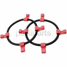 Snow chains, Clamping rubber with PVC-hook, Tyre size 18 x 9.50-8, 18 x 8.50-10