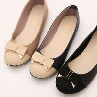 BN Womens Darling Wedding Two Tone Bowed Ballet FLATS BALLERINAS Casual Shoes