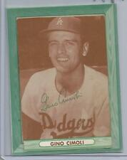 1958 Bell Brand Potato Chips Dodgers Gino Cimoli Card Poor Condition (CSC) READ