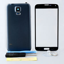 Black Full Housing Case Cover Screen Glass parts For Galaxy S5 repair tools