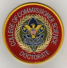 """College Of Commissioner Science - Doctorate 4"""" Jacket Patch, """"BSA 2010"""" Back"""