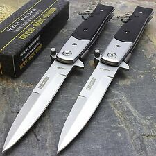 "2 x 8.5"" TAC FORCE SPRING ASSISTED TACTICAL STILETTO POCKET KNIFE Assist Open"