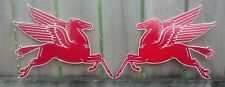 Two Flying Red Horse Pegasus Signs Facing Left-Right 15.5