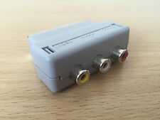 Genuine Official Nintendo Wii Scart Adapter Block AV TV Composite Wii U Xbox PS3