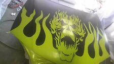 Skull Flame hood decal vinyl flamming graphic sticker fits car truck trailer v2