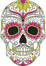 Sugar Skull Vinyl Car Exterior Stickers Decals Mexican Day of the Dead Graphic 2