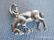 BUCKING HORSE Charm Pendant Sterling Silver Vintage