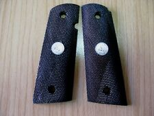 New Grip For Colt 1911 Full Size Kimber Clones All Checkered&Silver medallion