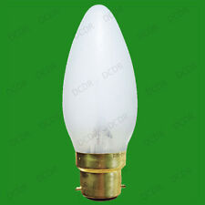 12x 15W Opal Incandescent Dimmable Chandelier Candle Light Bulbs, BC, B22 Lamps