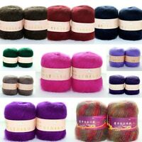 Wholesale! Luxury Angola Mohair Cashmere Wool Yarn Skeins Lot;Fine;10 Colors!