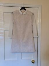Ted Baker Marsham White Lace Tunic Dress 2 Uk 10 Peter Pan Collar Rrp £149
