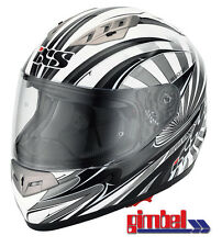 IXS helmet HX 450 Fibreglass Motorcycle Size S 55-56 with integrated Sun visor