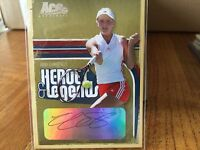 Anna Chakvetadze Signed Ace Authentic Trading Card