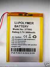 Battery For Android Tablet PC  3000 mAh 3.7V 377093 Rechargeable Polymer Lithium