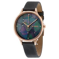 Skagen Anita Grey Crystal Constellation Dial Grey Leather Ladies Watch SKW2390