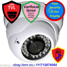 1200TVL SonyCMOS Dome Camera Indoor-Outdoor CCTV /Verifocal 2.8-12MM/White