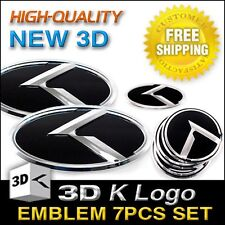3D K Logo F R Steering Wheel Emblem Badge 7pcs For KIA 2013-2017 Cerato Forte K3
