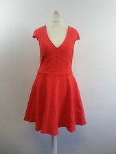 River Island Red Structured Cap Sleeve Skater Dress Size UK 10 Box4644 R