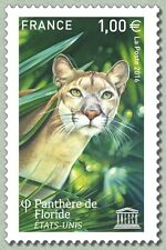 France 2016 UNESCO Florida panther Panthère de Floride wild animals 1v mnh **