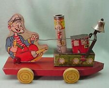 Vintage Tug Boat Pete Gong  bell  pull toy  1937