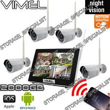 Wireless Security Cameras System 2TB House Home Night Vision Anti Theft Vandal
