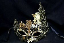 Womens Light Filigree Metal Prom Venetian Mardi Gras Masquerade Mask [Gold]