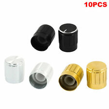 10pcs 15*17mm Aluminum Speaker Amplifier Volume Control Knob Black/Silver/Gold