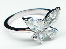 1.00 CTW Mixed Cut Butterfly Diamond Ring