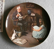 PLATE Norman Rockwells THE STORYTELLER Edwin M Knowles China 1984 Limited
