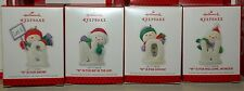 Hallmark 2013 Let is SNOW letters S N O W Ornaments set of 4 snowman