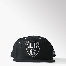 NEW RETRO ADIDAS BROOKLYN NETS TRUCKER CAP HAT BLACK TRUCKER MEDIUM 56CM 22.1/4