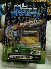 MUSCLE MACHINES  IMPORT TUNER  '02 ACURA RSX TYPE S GREEN  1:64 T02-21