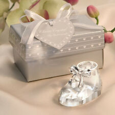 14 - Choice Crystal Baby Shoe- Bootie - Baby Shower Favor - Free US Shipping