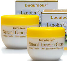 2 x Natural Lanolin Cream with Colostrum, Vitamin E - Made in New Zealand 100g