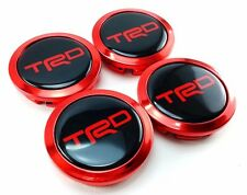 WHEEL CENTER HUB CAPS LOGO TRD RED Chome 58mm. Parts FOR TOYOTA Camry Car Spotrs