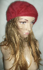 Kangol Camila vintage red mohair wool mix beret hat Small