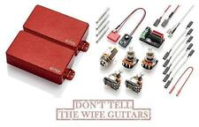 EMG 81 + 60 Red Active Solderless Humbucker Pickup Set (FREE WORLDWIDE SHIPPING)