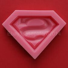 Superman logo superhero silicone mold, fondant, chocolate, soap, clay, resin